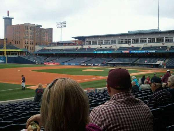Fifth Third Field, sección: 104, fila: q, asiento: 22