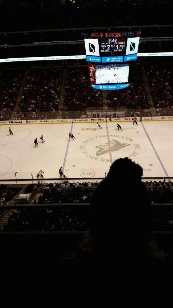 Gila River Arena, sección: 201, fila: B, asiento: 4