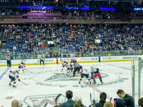 Nationwide Arena, sección: 104, fila: H, asiento: 10