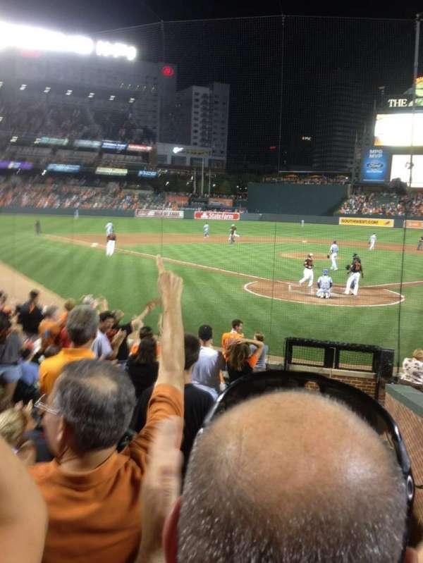 Oriole Park at Camden Yards, sección: 38, fila: 14, asiento: 1