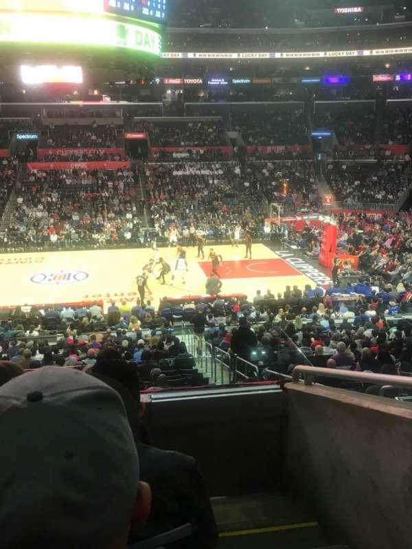 Staples Center, sección: PR5, fila: 4, asiento: 1