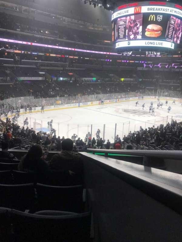 Staples Center, sección: 205, fila: 7, asiento: 1