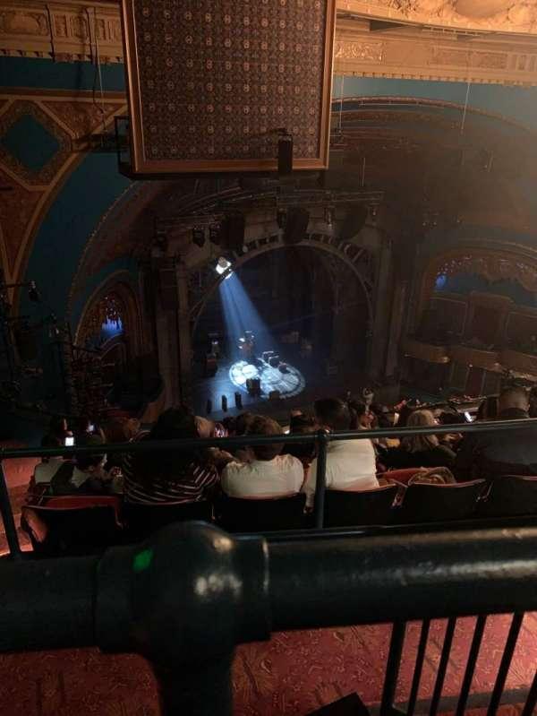 Curran Theater, sección: Balcony, fila: H, asiento: 19