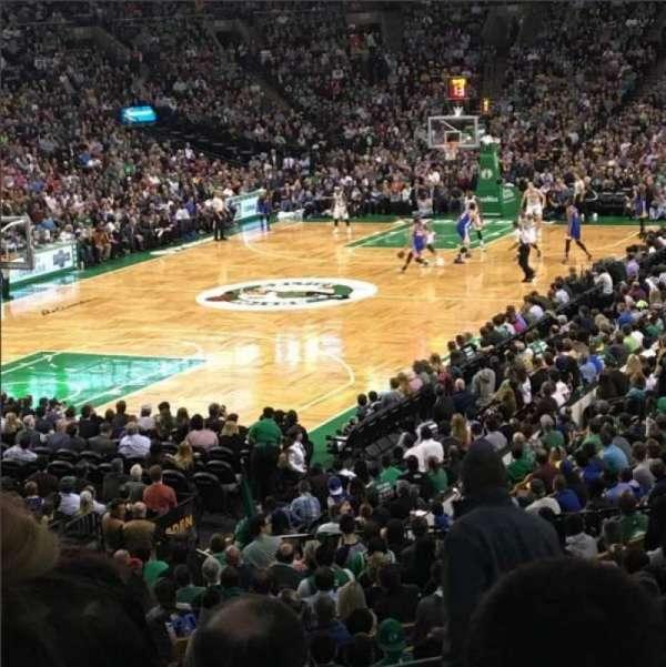 TD Garden, sección: Loge 16, fila: 22, asiento: 1
