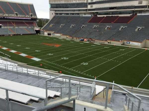 Lane Stadium, sección: 1, fila: SS, asiento: 2