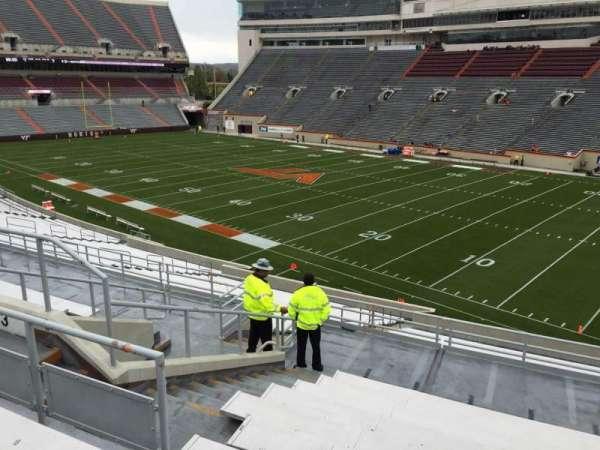 Lane Stadium, sección: 3, fila: SS, asiento: 18