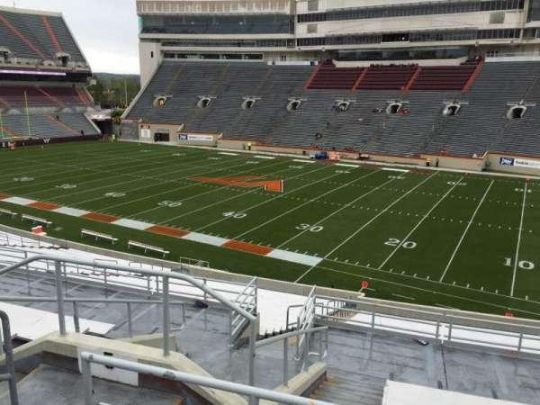 Lane Stadium, sección: 5, fila: SS, asiento: 10