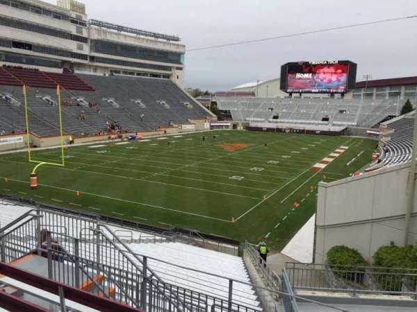 Lane Stadium, sección: 201, fila: E, asiento: 7