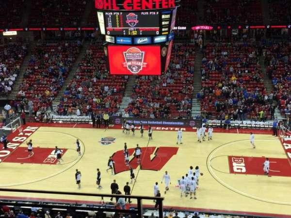 Kohl Center, sección: 307, fila: C, asiento: 18