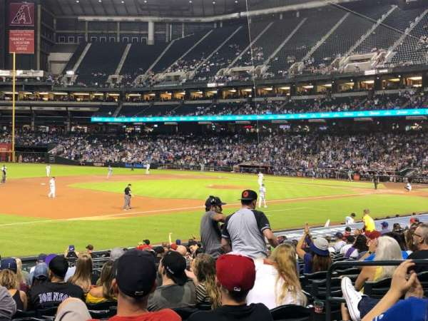 Chase Field, sección: 131, fila: 22, asiento: 6