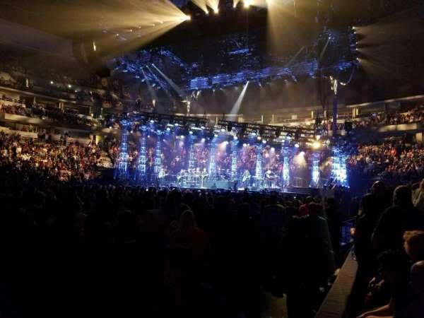 Pepsi Center, sección: 102, fila: 1, asiento: 1