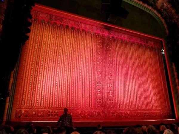 New Amsterdam Theatre, sección: Orchestra L, fila: H, asiento: 3