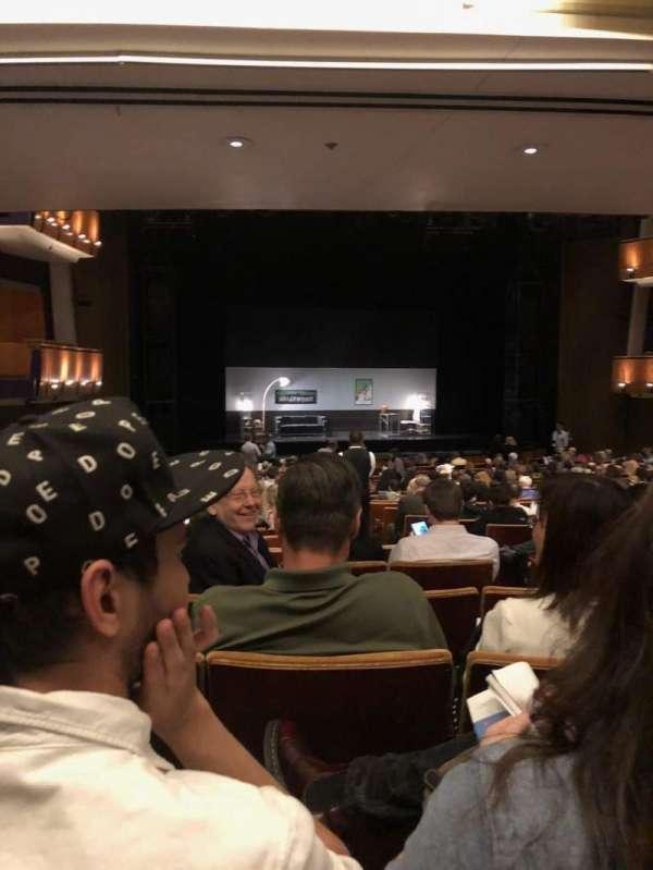 Ahmanson Theatre, sección: Orch, fila: X, asiento: 43