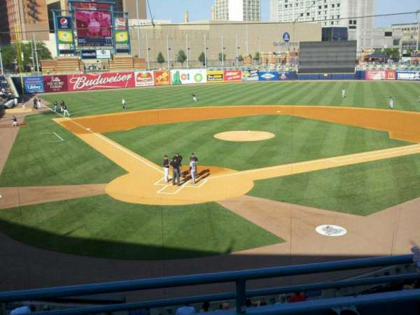 Fifth Third Field, sección: 210, fila: c, asiento: 4