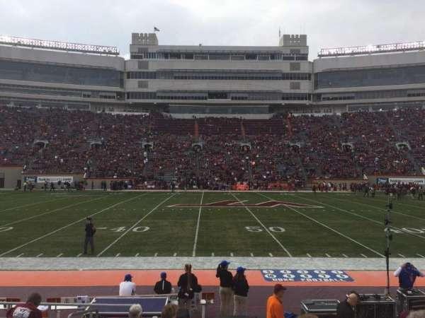 Lane Stadium, sección: 11, fila: K, asiento: 2