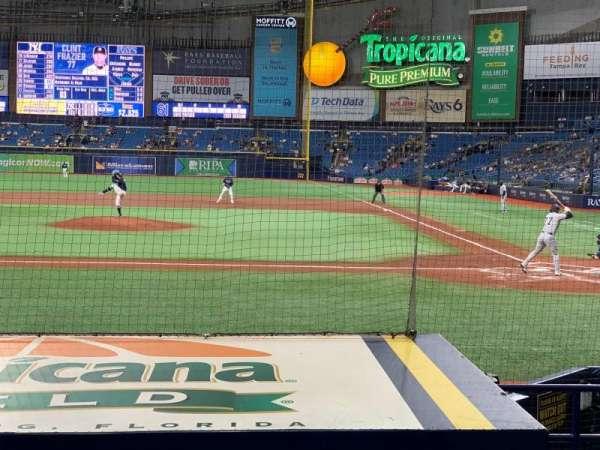 Tropicana Field, sección: 111, fila: N, asiento: 10