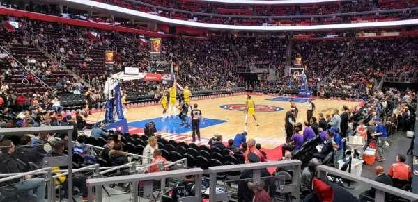 Little Caesars Arena, sección: 126, fila: 3, asiento: 6