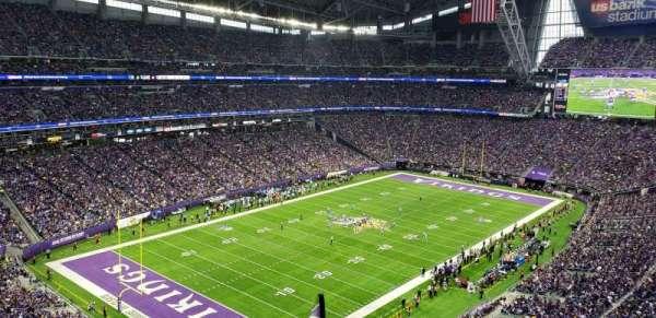 U.S. Bank Stadium, sección: 349, fila: E, asiento: 1