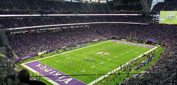 U.S. Bank Stadium, sección: 349, fila: E, asiento: 3