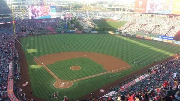 Angel Stadium, sección: MVP 523, fila: P, asiento: 7