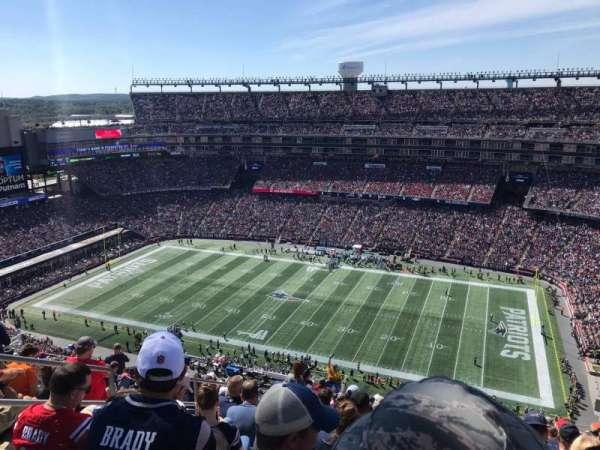 Gillette Stadium, sección: 306, fila: 24, asiento: 21
