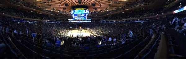 Madison Square Garden, sección: 112, fila: 17, asiento: 11