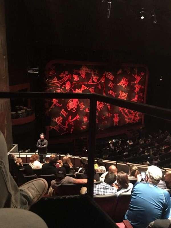 Minskoff Theatre, sección: Mezzanine Box Left, fila: Box 1, asiento: 1