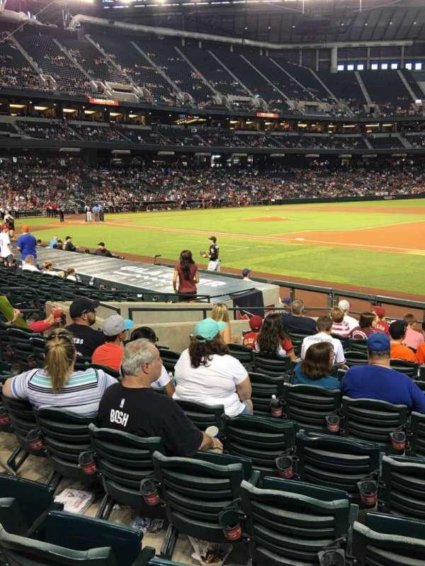 Chase Field, sección: 114, fila: 14, asiento: 5