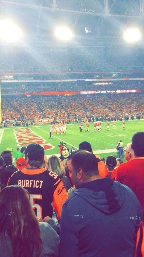 State Farm Stadium, sección: 135, fila: 11, asiento: 10