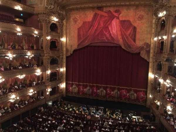 Teatro Colón, sección: Cazuela Centro, fila: 1, asiento: 64