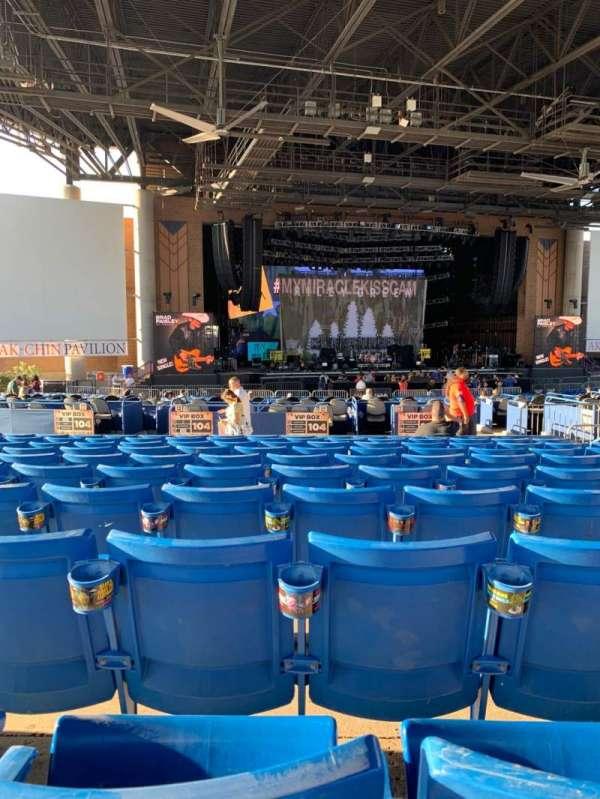 Ak-Chin Pavilion, sección: 204, fila: KK, asiento: 11