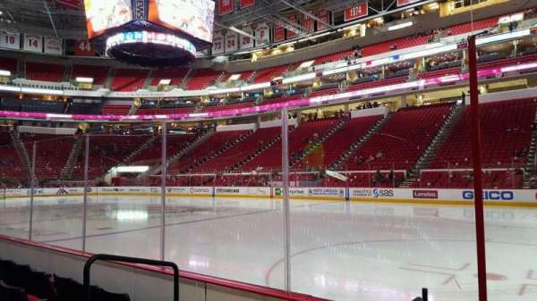 PNC Arena, sección: 101, fila: d, asiento: 3