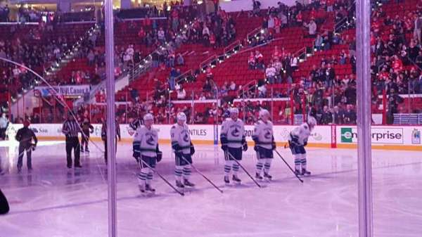 PNC Arena, sección: 101 , fila: d, asiento: 3