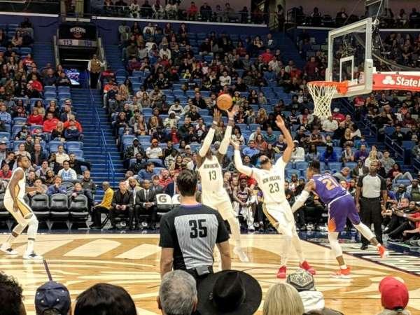 Smoothie King Center, sección: 124, fila: 6, asiento: 5