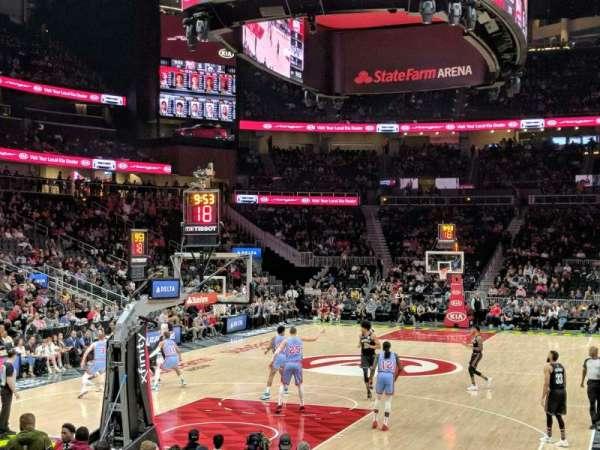 State Farm Arena, sección: 112, fila: b, asiento: 10