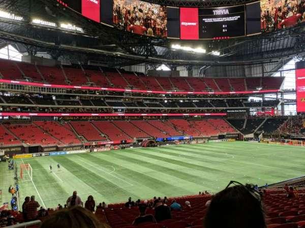 Mercedes-Benz Stadium, sección: 114, fila: 38, asiento: 24