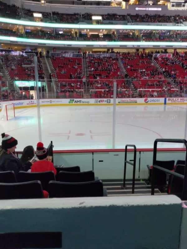 PNC Arena, sección: 107, fila: f, asiento: 1