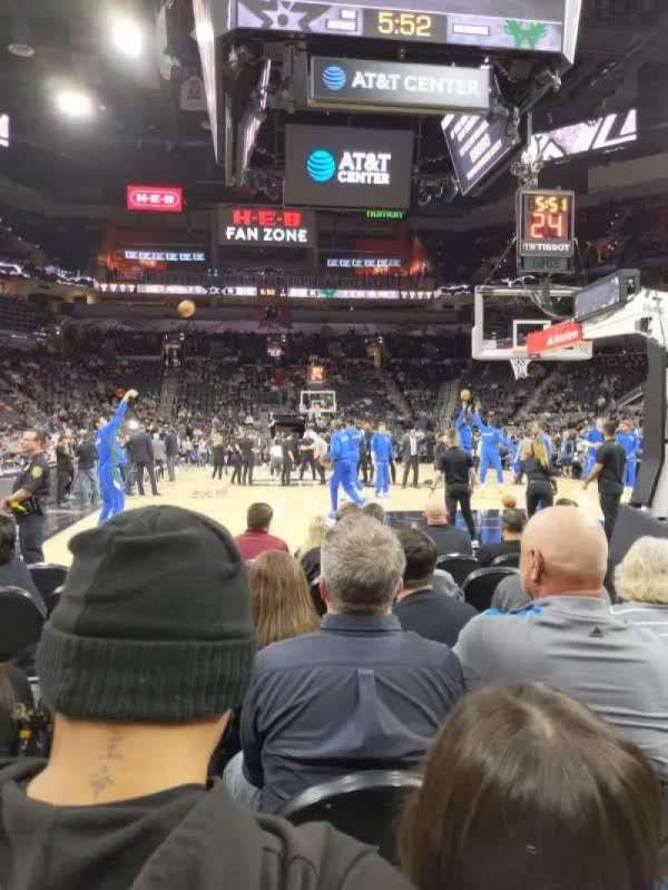 AT&T Center, sección: 101, fila: 6, asiento: 5