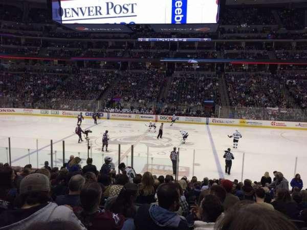 Pepsi Center, sección: 124, fila: 17, asiento: 9