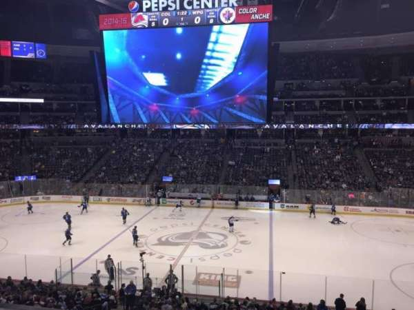 Pepsi Center, sección: 230, fila: 1, asiento: 5
