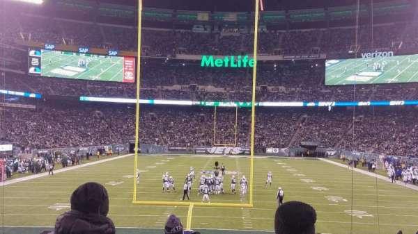 MetLife Stadium, sección: 101, fila: 18, asiento: 10
