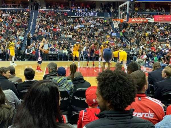Capital One Arena, sección: 101, fila: B, asiento: 5