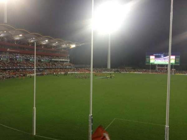 Metricon Stadium, sección: 221, fila: C, asiento: 485