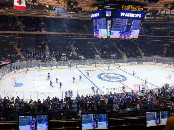 Madison Square Garden, sección: 209, fila: 3, asiento: 9