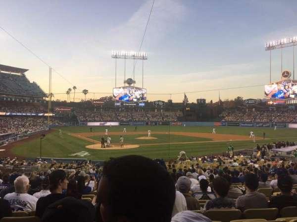 Dodger Stadium, sección: 6FD, fila: U, asiento: 8