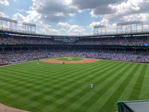 Wrigley Field, sección: Bleachers, fila: Centerfield, asiento: Upper Level