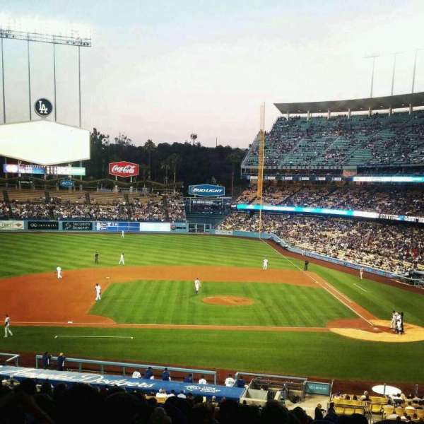 Dodger Stadium, sección: 127LG, fila: S, asiento: 1