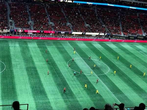 Mercedes-Benz Stadium, sección: 342, fila: 9, asiento: 23