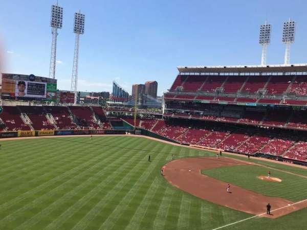 Great American Ball Park, sección: 412, fila: C, asiento: 4