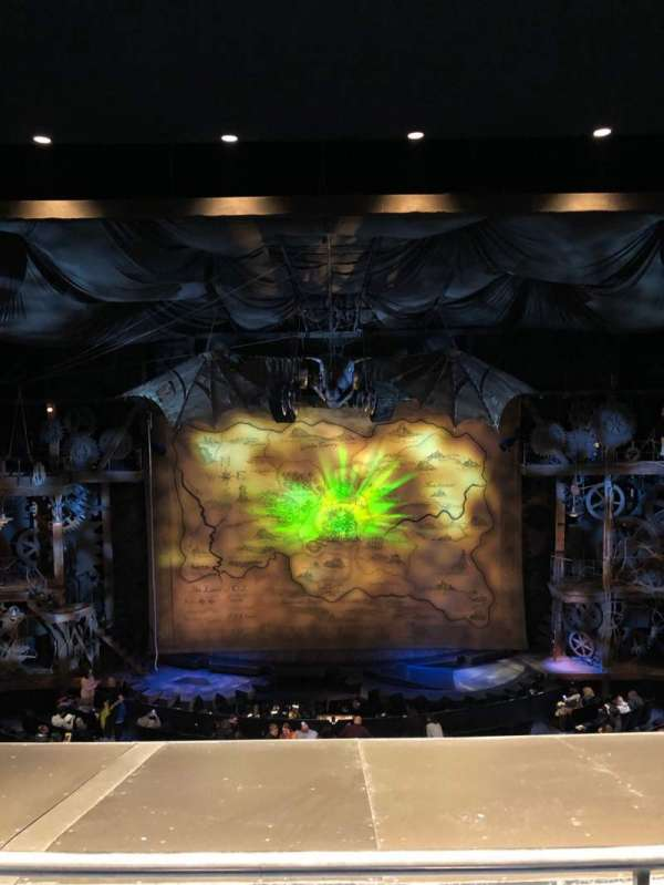 Gershwin Theatre, sección: Front Mezzanine C, fila: B, asiento: 110